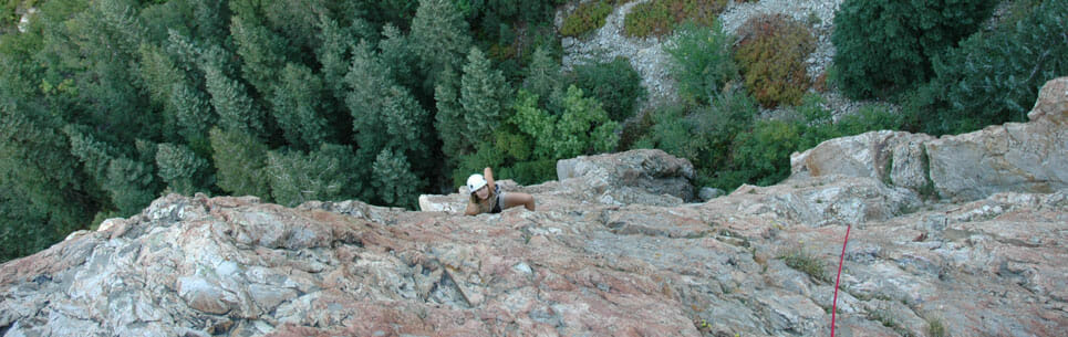 Person During Short Day Climbing Adventure